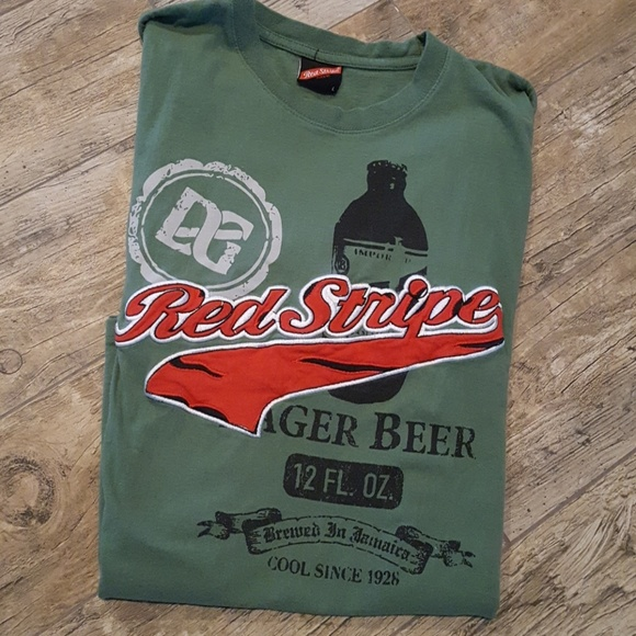 Shirts Mens Red Stripe Beer Tshirt Poshmark